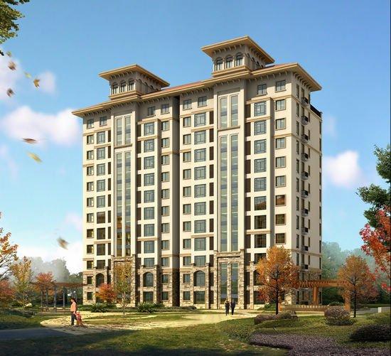 建筑风格:多元化小区,简约欧式的建筑风格