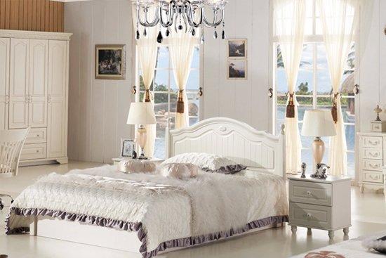 韩式田园风格卧室搭配1 韩式家居的卧室布置较为温馨,作为主人的私密图片