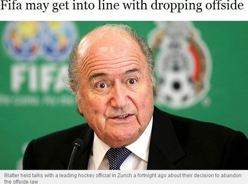 布拉特突发奇想欲取消越位 足球重回旧时代?