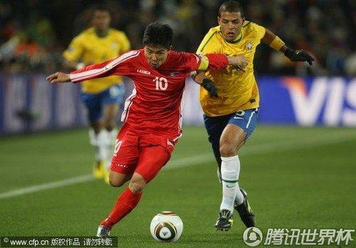 2010世界杯小组赛G组首轮:巴西Vs朝鲜