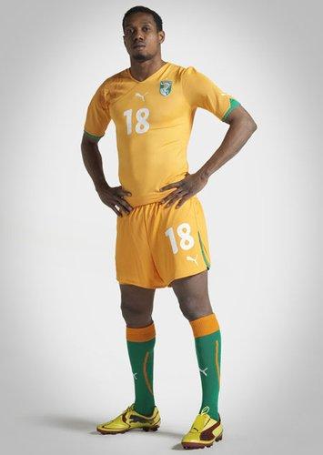 科特迪瓦国家队球衣——延续橙色传统
