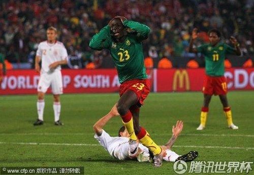 2010世界杯小组赛E组次轮:喀麦隆1-2丹麦