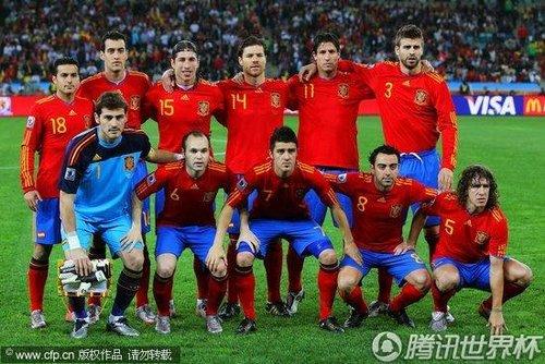 图文:德国0-1西班牙 西班牙队开场首发_2010南