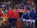 视频:巴拉圭大战西班牙 双方球员正式入场