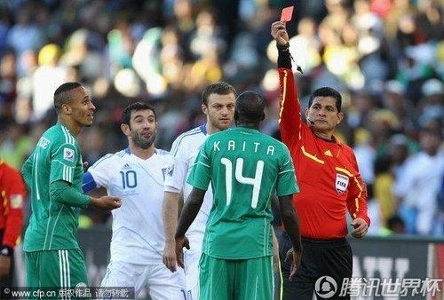 世界杯-希腊2-1逆转尼日利亚 取历史第一胜