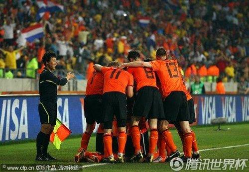 2010世界杯1/4决赛:荷兰2-1巴西