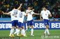 图文:尼日利亚2-2韩国 韩国队员庆祝
