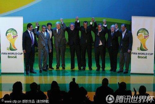 2014世界杯会徽发布仪式举行 巴西总统卢拉出席