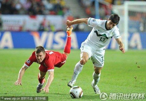 2010世界杯小组赛C组末轮:英格兰1-0斯洛文尼亚 携手美国小组出现