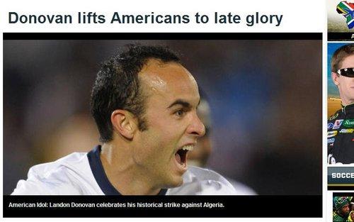 福克斯体育:多诺万绝杀带给美国队8年来首胜