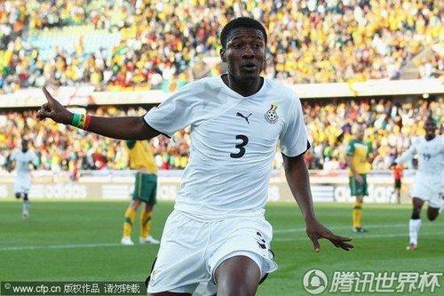 最佳球员:黑星闪耀南非 吉安点射助加纳不败
