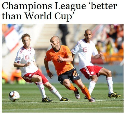 俱乐部实力操控决赛天平 世界杯早已不如欧冠