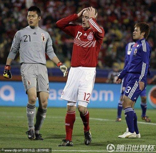 2010世界杯E组末轮:丹麦1-3日本 日韩进军16强