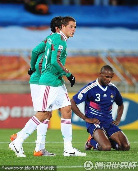2010世界杯小组赛A组次轮:墨西哥2-0法国