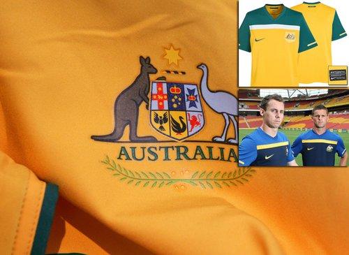 澳大利亚国家队球衣——打破接近巴西印象