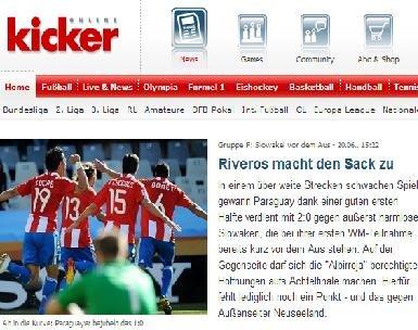 踢球者:巴拉圭掌握比赛 暂居首位出线在望