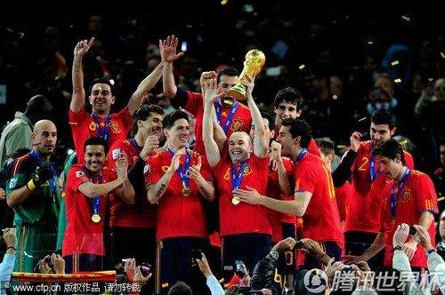 图文:荷兰0-1西班牙 西班牙队获得冠军(41)_世