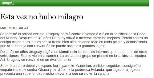 民族报:失利并不代表失败 乌拉圭昂首向前