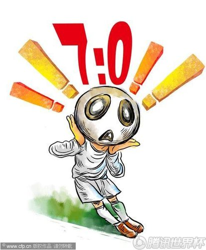 漫画:葡萄牙7-0朝鲜 创南非世界杯分差纪录
