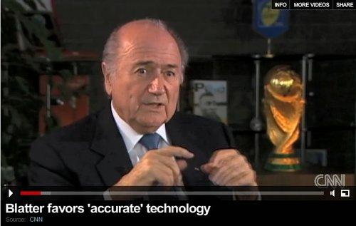 国际足联口风突变 布拉特:考虑引进电子裁判