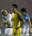 图文:乌拉圭2-1韩国 郑成龙叹息
