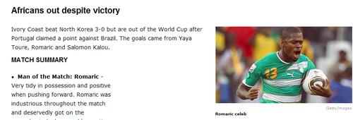 espn:科特迪瓦单场进球非洲之最 朝鲜3尝败绩