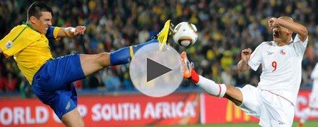 巴西3-0智利 上半场