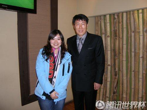 车范根夫妇招待腾讯记者团 解析韩国输球原因