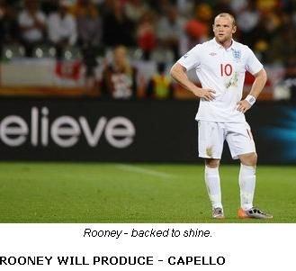 卡佩罗坚信鲁尼可救英格兰 担心对手会拖时间