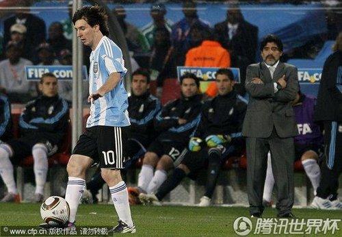 2010世界杯小组赛B组首轮:阿根廷1-0尼日利亚(精选)