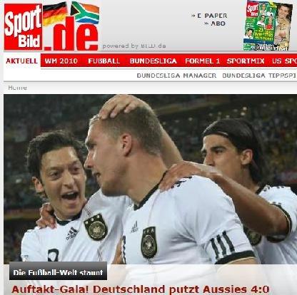 图片报:德国奉献完美首演 几名小将表现出色