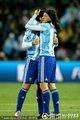 阿根廷球员拥抱