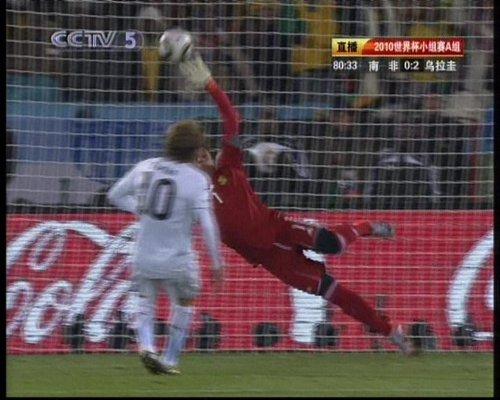 图文:南非VS乌拉圭 弗兰点球梅开二度