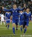 图文:阿根廷2-0希腊 阿根廷队员庆祝