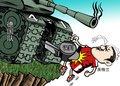 漫画:裁判驾驶战车碾过英格兰