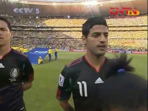 2010南非世界杯小组赛南非0:0墨西哥上半场精彩集锦