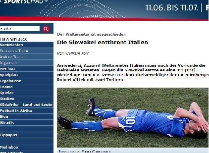 体育观察:意大利未获奇迹 世界冠军惨遭淘汰