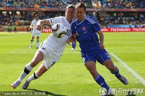 2010世界杯小组赛F组首轮:新西兰Vs斯洛伐克