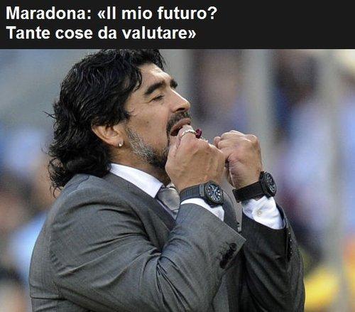 罗马体育报:马拉多纳无言 全阿根廷只剩眼泪