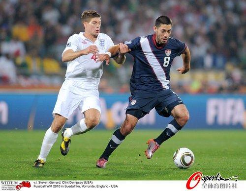 图文:英格兰VS美国 两队进球功臣对决