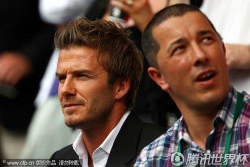 2010温网:贝克汉姆携子助阵穆雷 似已抛却英格兰失利遗憾