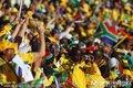 图文:法国1-2南非 南非球迷加油助威