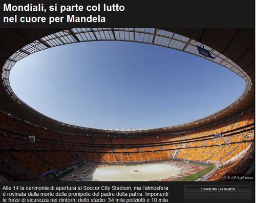 罗马体育报:开幕式安保很完备 气氛略显悲伤