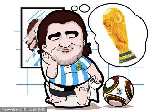 漫画:马大帅世界杯索要特供马桶