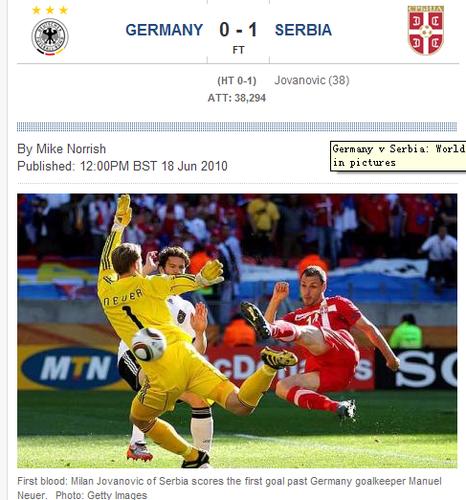 每日电讯:德国惜败难以解释 但比赛是公平的