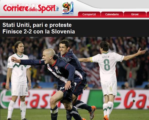 罗马体育报:狂掀绝地大反击 美国更接近胜利