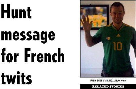 洪特穿上南非队服诅咒法国出局