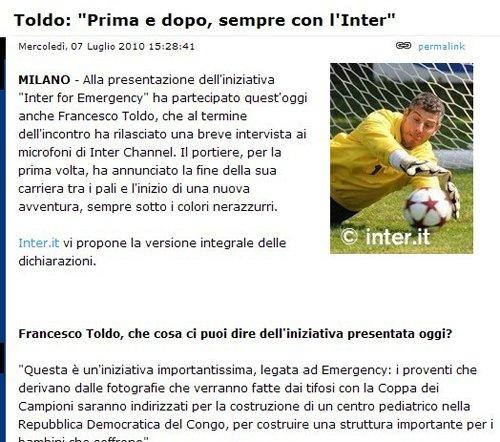 意大利传奇宣布退役 从此足坛再无圣托尔多!