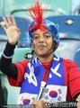 图文:尼日利亚2-2韩国 韩国球迷