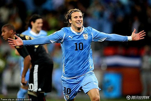 德国3:2乌拉圭 弗兰庆祝进球